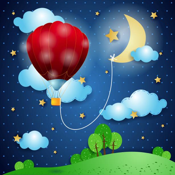 Сказочная ночь Детские фотообои (children-0000215)
