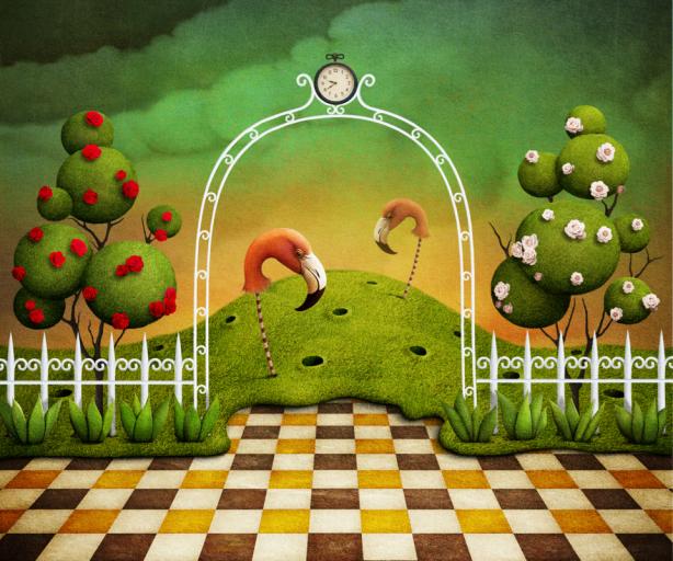 Фотообои детские сказочный сад (children-0000354)