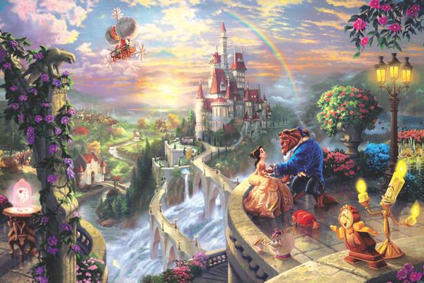 Фотообои Красавица и Чудовище 3х2 м (children-014)
