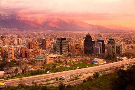 Фотообои город, панорама города, вечерний (city-0000013)