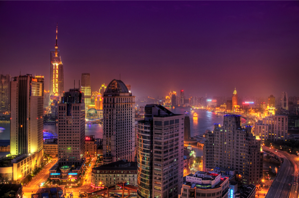 Фотообои Шанхай, Китай, ночной город (city-0000215)