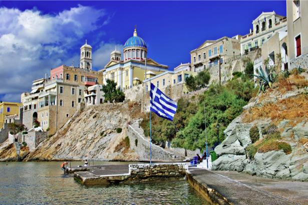 Фотообои Греция остров Сирос (city-0001191)