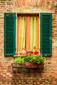 Фотообои окно с цветами (city-0001207)