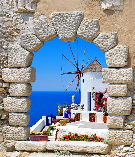 Фотообои Греция дворик арка (city-0001227)