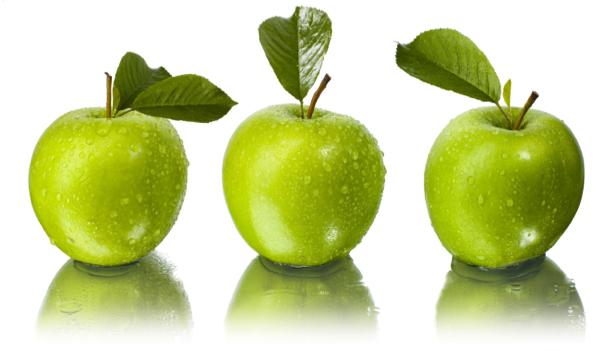 Зеленое яблоко Фотообои для кухни (food-0000192)