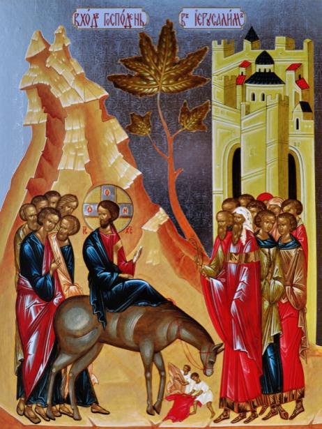 Вход Господень во Иерусалим (icon-00023)