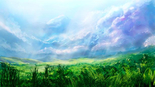 Фотообои с природой пейзаж небо облака (nature-00054)
