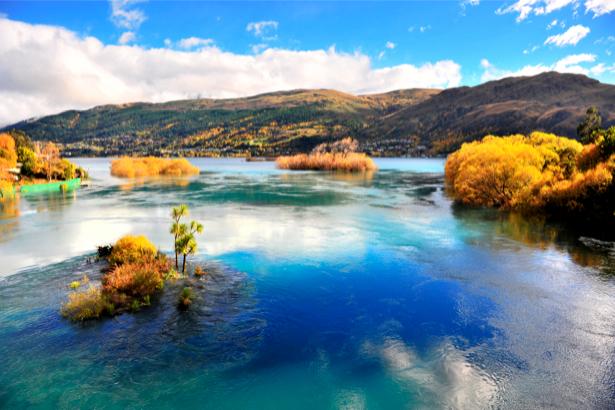 Фотообои осенняя река горы (nature-00262)