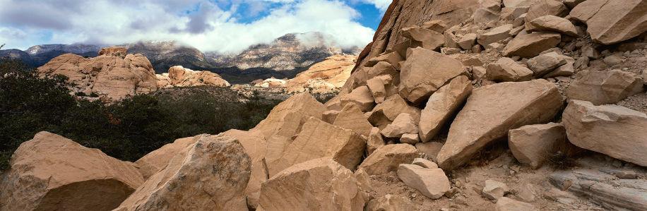 Фотообои горный ландшафт россыпь камней (nature-00350)