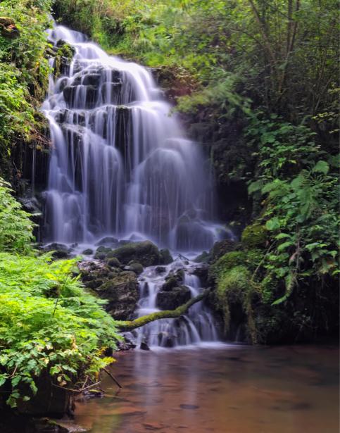 Фотообои горный водопад природа (nature-00391)