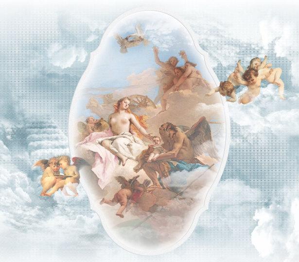 Фотообои на потолок сюжет с ангелами (overhead-0007)