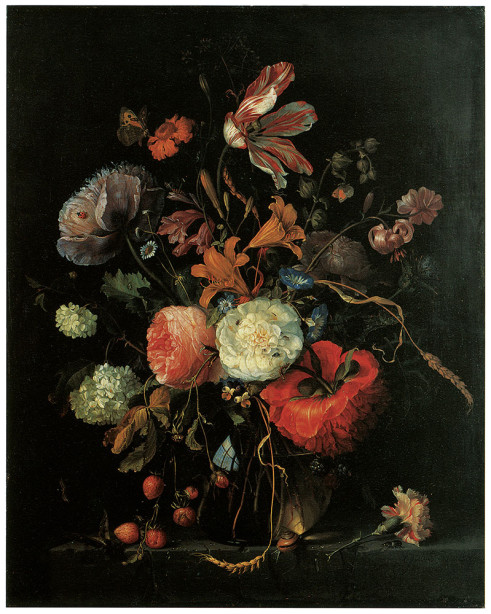 Картина натюрморт с цветами (pf-117)