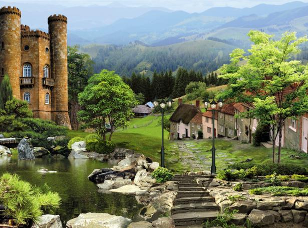 Фотообои Европейская деревня (printmaking-0000054)