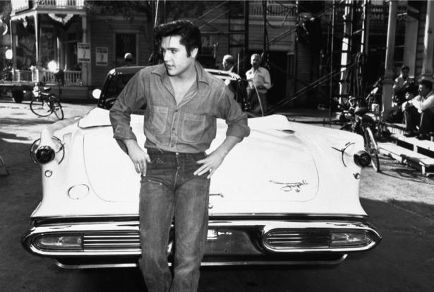 Фотообои Элвис Пресли и кадиллак (retro-vintage-0000220)