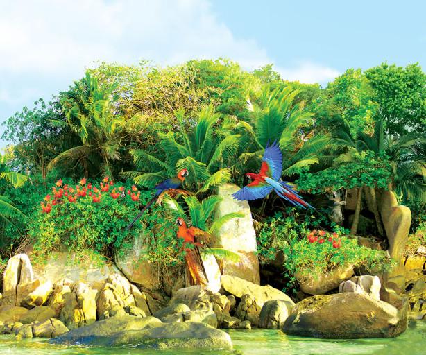 Фотообои зал море пальмы остров (sea-0000015)