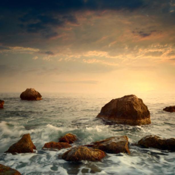 Фотообои красивый морской пейзаж камни (sea-0000088)
