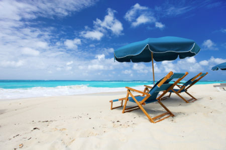 Фотообои море берег остров зонтик (sea-0000310)