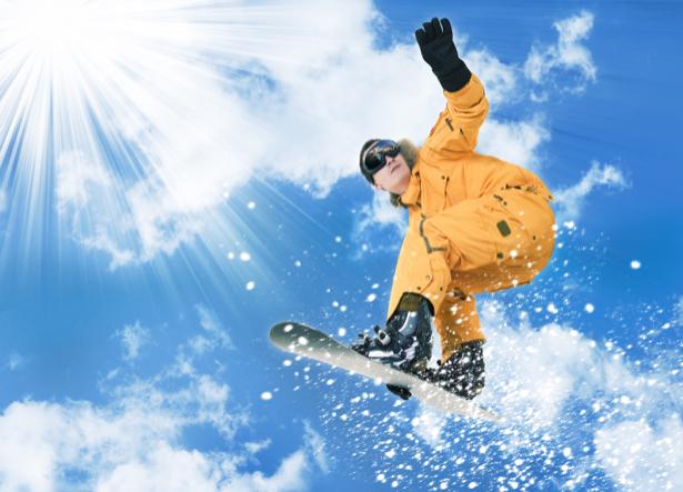 Фотообои сноубордист в прыжке (sport-0000008)