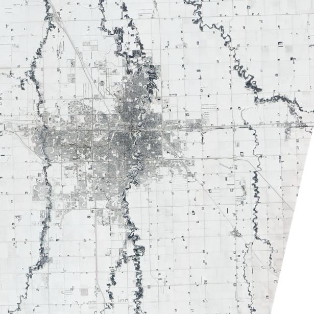 Фотообои город белый и реки (terra-00051)
