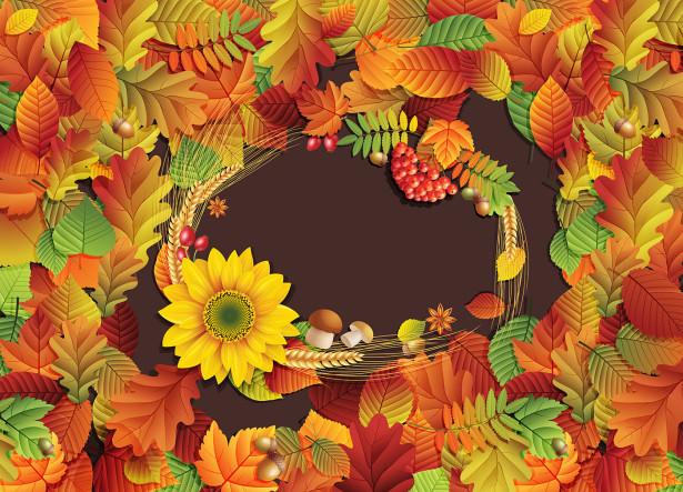 Скатерть Осенние листья (0074)
