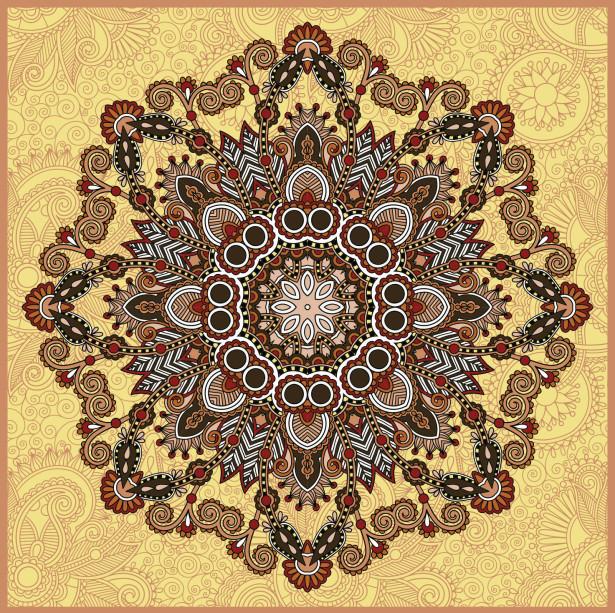 Скатерть восточный цветок (0133)
