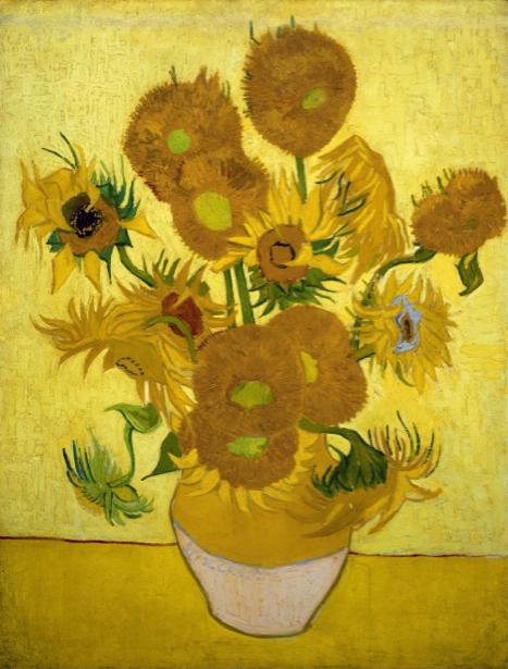 Живопись обои цветы -  Подсолнухи (art-0000257)