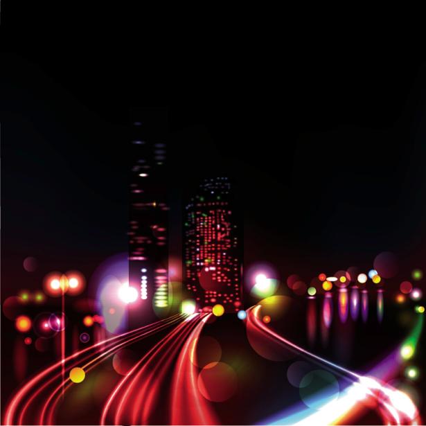 Фотошторы ночной город в огнях (bedroom-curtain-00016)