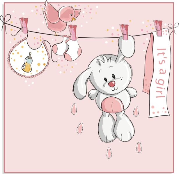 Белый зайчик Детские фотообои (children-0000289)