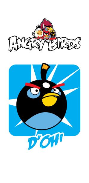 Фотошторы angry birds голубые (children-curtain-00026)