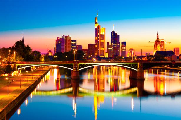 Фотообои Франкфурт на Майне, Германия, мост (city-0000029)