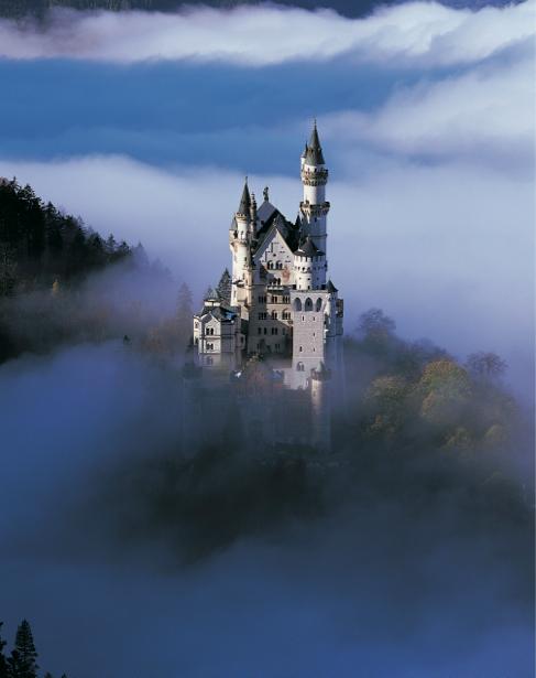 Фотообои Замок, замок-крепость, гора (city-0000067)