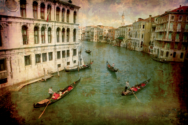 Фотообои Венеция винтаж Италия (city-0000471)
