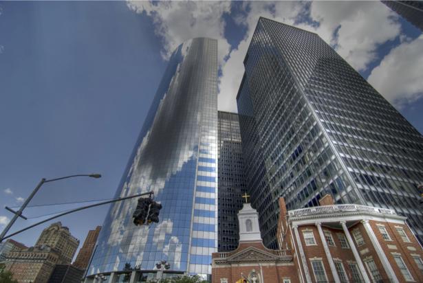 небоскреб вид снизу фотообои (city-0000789)