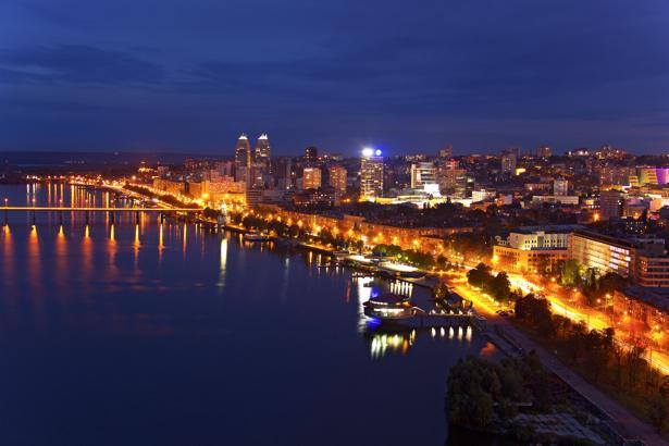 Фотообои ноч на Днепре (city-0000930)