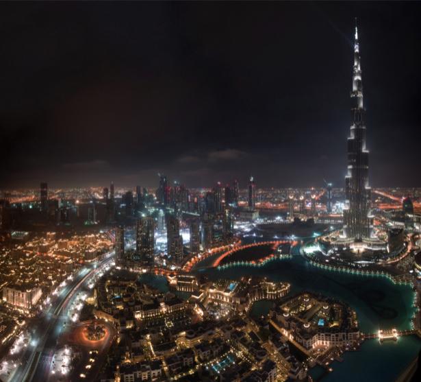 Фотообои панорама небоскрёбы дубай (city-0001176)