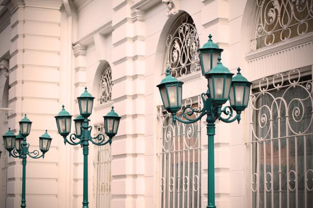 Фотообои Городские фонари (city-0001206)
