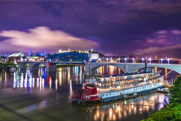 Фотообои Ноксвилл штат Теннесси ночь (city-0001352)