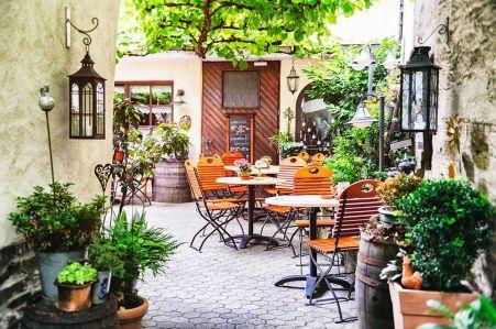 фотообоев с уличным кафе (city-1434)