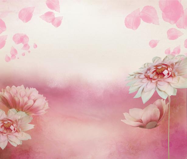 Фотообои на стену -  Фон из цветов (flowers-0000176)
