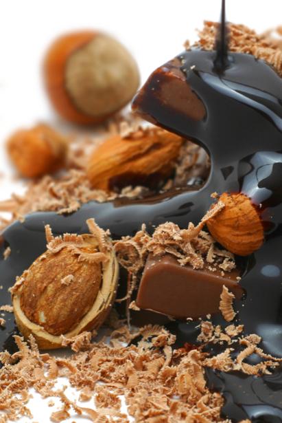 Фотообои для кухни шоколад и орехи (food-0000170)