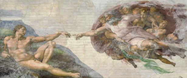 Фотообои Сотворение Адама в стиле Лофт (loft-16)