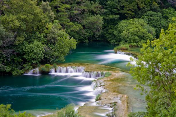 Фотообои природа водопад каскад (nature-00376)