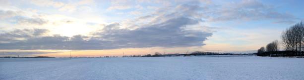 Фотообои зимняя панорама снег (panorama_0000006)