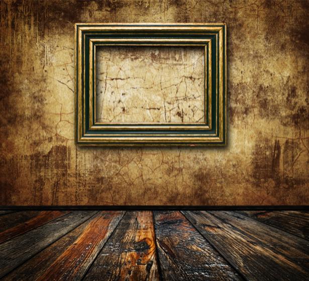 Фотообои стена ретро рама (retro-vintage-0000012)