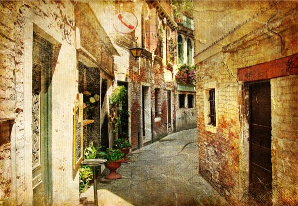 Венеция Фотообои Италия архитектура (retro-vintage-0000154)