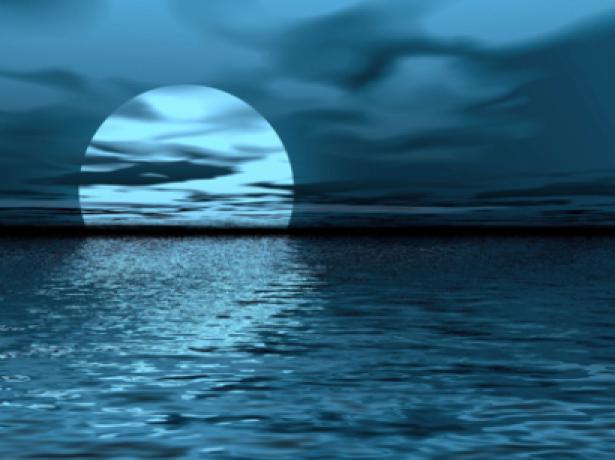 Фотообои фото море и луна ночь (sea-0000078)