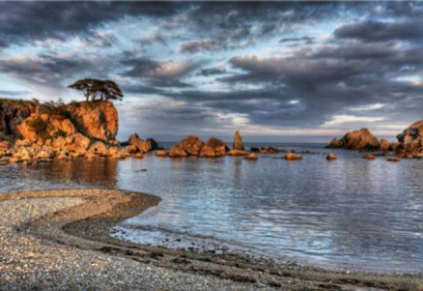 Фотообои морской пейзаж и галечный пляж (sea-0000086)