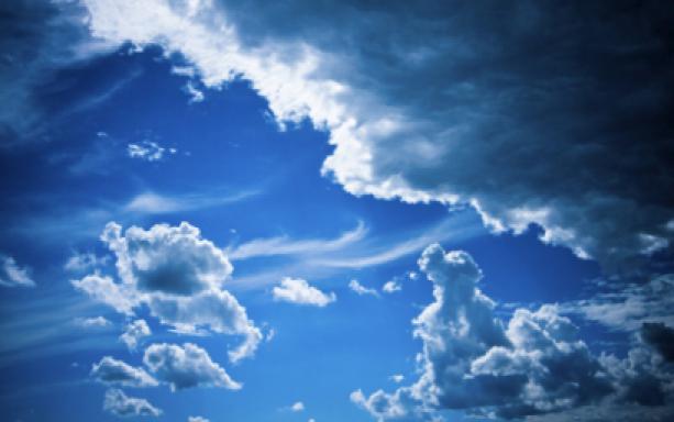 Фотообои небо облака - синее небо (sky-0000034)