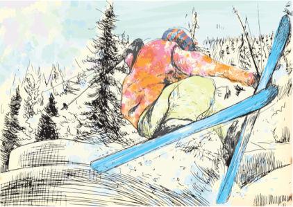 Фотообои зимние виды спорта (sport-0000161)