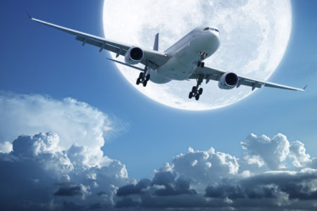 Фотообои самолет в небе (transport-0000280)